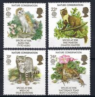 GB 1986 : MNH Europa : Nature Conservation SET OF FOUR STAMPS SEE SCAN POST FREE
