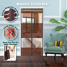 Magnet Fliegengitter Tür Insektenschutz Moskitonetz Vorhang Fliegenvorhang Braun