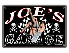Personalized PIN UP Garage Sign *YOUR NAME* HI GLOSS Aluminum FULL COLOR JG#506