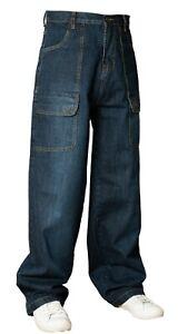 Bleubolt Denim Skater 20 Inch Hem Baggy Loose fit Comfort Trousers Jeans 5070