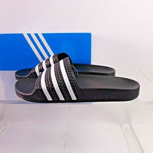 adidas Originals Men's Adilette Slide Sandals 280647 Black/White Made in Italy