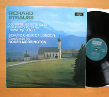 ZRG 803 Richard Strauss Choral Music Schutz Choir Roger Norrington ARGO NM/EX