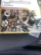 Large Lot Of Transistor Vintage Tube Radio Parts Resistor Capacitor