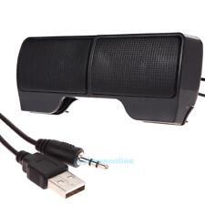 Mini Portable USB Stereo Speaker Clip Soundbar for Notebook Laptop Mp3 Phone PC