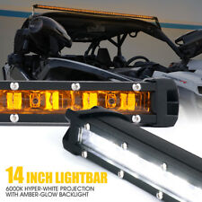 Xprite 14 inch Single Row LED Light Bar Amber Sunrise Series Backlight Truck ATV