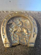 Equestrian Steeplechase Jumper Bronze Ashtray