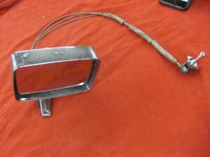 Original 1969 69 Ford Chrome Remote LH Mirror Galaxie LTD 70 71 72 C9AB-17743-A