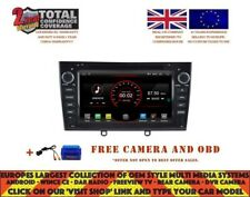DVD GPS BT ANDROID 9.1 DAB+ CARPLAY WIFI FUR PEUGEOT 408 308 RCZ 2010-11 K5634 B