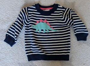 Carter's dinosaur stripe jumper, 6 months