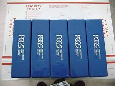 5 USED BLUE PCGS COIN BOXES. EACH BOX HOLDS 20 PCGS GRADED COINS