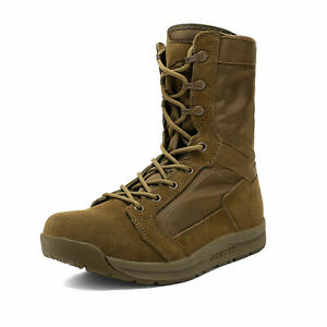 Men Military Leather Tactical Combat Boots Army Hiking Lightweight Hiking Boots