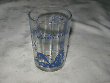A 50's Swanky Swig Promotional Tumbler Glass A Blue Monkey Circus