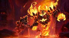 Game WOW world of warcraft ragnaros fire Silk Fabric Poster 24 X14 inch