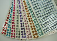 8MM Round Gemstone 135 Pcs Self Adhesive Acrylic Rhinestones Stickers