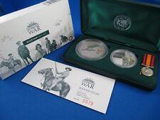 2003 AUSTRALIANS - BOER WAR 1899-1902 - 2oz Kookaburra 1oz medallion MAGNIFICENT