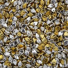 Czech Dragon® Scale Glass Beads 5mm Jet California Silver 9g (M37/1)