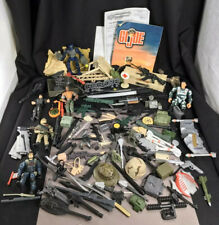 Large Lot Of Vintage Gi Joe & Other War Military Toy Accessories Guns, Swords
