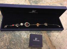 Swarovski Bracelet Charm Adjustable Double Strand NIB Rose Heart