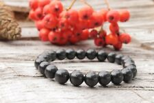 Shungite bracelet from Russia 8mm*23 Pcs, EMF protection, reiki chakras