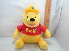 "Winnie The Pooh Mega Bloks Blocks Pooh Plush Stuffed Animal Toy Doll 11"" Tall"