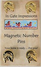 HORSESHOE Magnetic number pins horse show number magnet holders