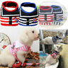 Pet Dog Sailor Anchor Stripes Puppy Harness Strap Vest Adjustable Walking Leash