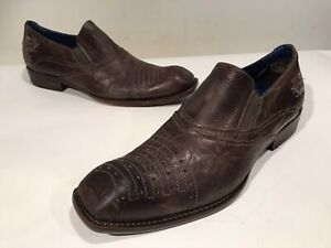 Mark Nason ROCK LIVES Size 13 M D Made in Italy Mens Loafers Shoes Brown Leather