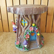 Large Secret Garden Miniature Fairy Tree Stump House Forest Log Gnome Home