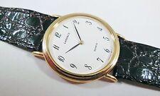 Lassale by Seiko Gold Tone Metal 5E20-6A10 Calfskin Sample Watch NON-WORKING