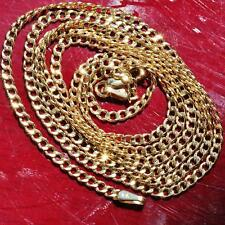 "10k yellow gold necklace 24.0"" Cuban link chain vintage 1.8gr"