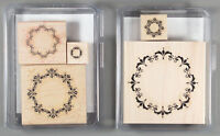 Stampin Up Daydream Medallions Set of Wood Mount Rubber Stamps - Flower Circles