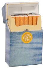 48 X Zigarettenetui Zigarettenbox Jeans-Look Kunststoff Sonderposten