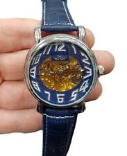 Orologio Polso Yk G8245 Unisex Analogico Automatico Elegante Moda Blu lac
