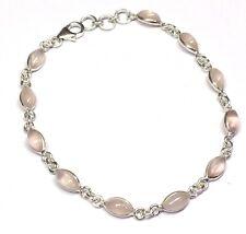 Handmade 925 Sterling Silver Bracelet With Marquise Pip Shape Rose Quartz Stones