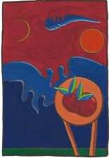 """Dimitris C. Milionis """"A CONTRADICTORY WORLD"""" Hand Painted Giclee Print Greek"""