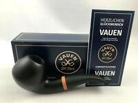 VAUEN Olaf 1815 Pfeife pipe pipa - 9mm Filter - matt schwarzes Mundstück