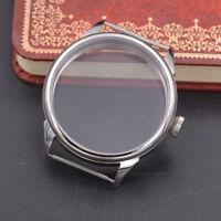 new 42mm Steel watch Case fit eta 6497/6498 Seagull ST36 movement men watch