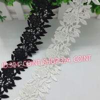 HB47 1 Yard Lace Trim Ribbon For Wedding Bridal Dress Embroidered Sewing Craft