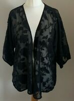 Select Size 8 Ladies Black Cover Up Top With Floral Print Detail