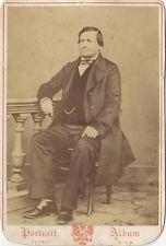Ferret Nice Portrait d'un Homme Photo Vintage Albumine
