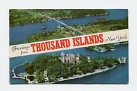 Banner Postcard - Greetings from Thousand Islands New York - 1961