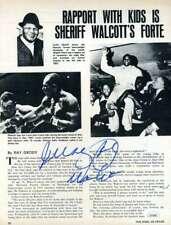 JERSEY JOE WALCOTT JSA Coa Autograph 8x10 Photo Page Hand Signed Authentic