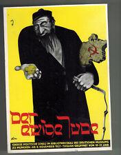 1937 Munich Germany Postal Stationery Postcard Cover Eternal Jew Exhibi Mannheim