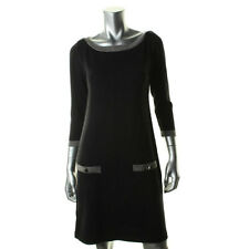$98 Nina West Black Sleeves Sweaterdress M 8 10 dress Sweater jyse