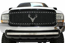 Stainless Steel Grill Badge Emblem fits Diesel Super Duty Jeep Wrangler Ram BUCK