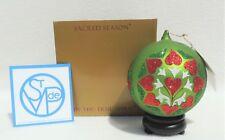 $65 Large Sacred Season Glass Cicle Of Love Religious Xmas Tree Ornament 4511