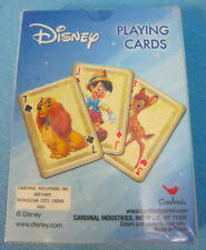 Disney Character Playing Cards Deck Bambi Pinocchio & More Red Brown Blue