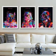 Poster Star Wars Movie Arte Minimalista Impreso Stormtrooper Yoda Darth Vader