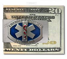 Large Emt Star Of Life Money Clip - Emergency Medical Technician - Free Ship #E*