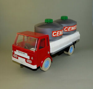Vintage Polish Poland Friction Truck Toy STAR with Cement Tanks